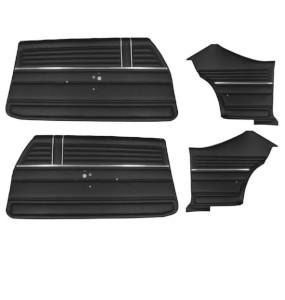 1968 Chevelle Coupe Door Panel Kit Black