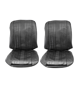1969 Chevelle Bucket Seat Covers, Black