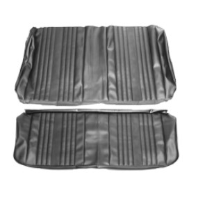 1969 Chevelle Convertible Rear Seat Covers, Black