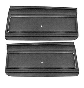 1977 Nova -1979 Nova Front Door Panels, Black