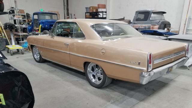 1966 Nova in a Garage