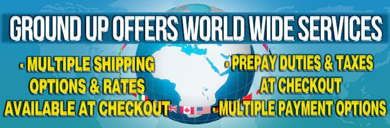 Live World Wide Shipping Estimates!
