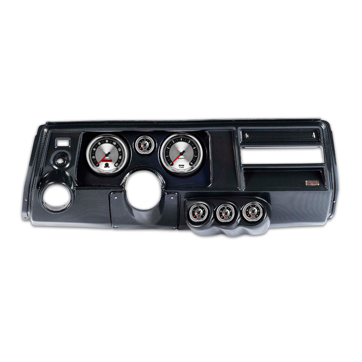 classic thunder road 1969 el camino with astro complete panel 5 inch,  american muscle, carbon fiber