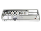 1970-1972 Chevelle Non-SS Thunder Road Concourse Series, White Face Gauges, Brush. Alum. Dash