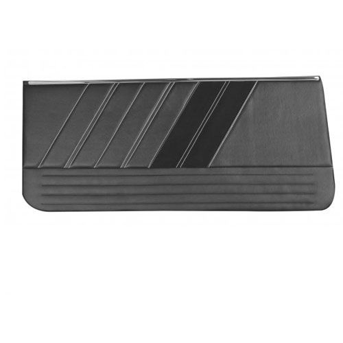 1967 Camaro TMI Sport R Front Door Panels, Black with Red Stitch: 11-80000-2295-99-RS