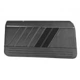 1968 Camaro TMI Sport R Front Door Panels, Black with Red Stitch: 11-80001-2295-99-RS