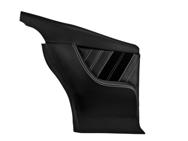 1968-1969 Camaro TMI Sport R Rear Molded Door Panels, Black with Red Stitch: 11-80061-2295-99-RS