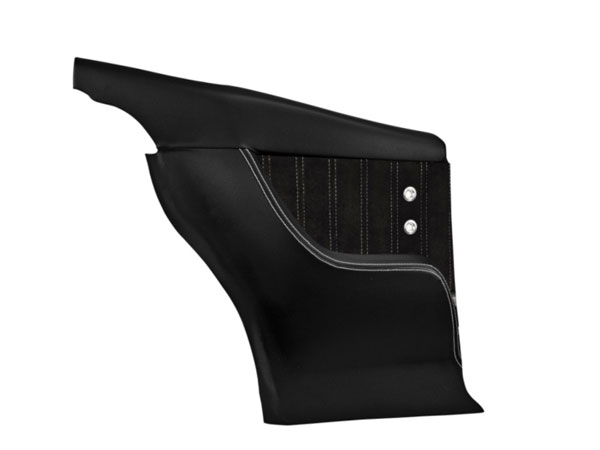 1968-1969 Camaro TMI Sport XR Rear Molded Door Panels, Black with Red Stitch, Stainless Grommet