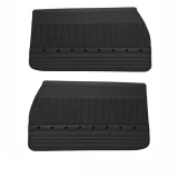 1970-1972 Chevelle TMI Sport XR Front & Rear Coupe Door Panels, Black w/ Red Stitch, Black Grommets