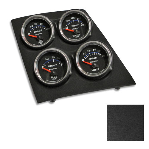 1968 1969 Camaro Console Gauge Quad Pod Black Cobalt Gauges