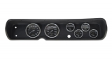 1964 Chevelle 6 Gauge Panel Black With 5 Inch Auto Meter Carbon Fiber Electric Gauges: 103640521