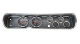 1964 Chevelle 6 Gauge Panel Brushed Alum. w/ 5 Inch Auto Meter Mech. Ultra-Lite Gauges: 103641322