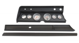 1967 El Camino 6 Gauge Panel Black With Auto Meter Ultra-Lite Gauges