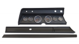 1967 El Camino 6 Gauge Panel Black With Auto Meter Cobalt Gauges