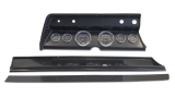 1967 El Camino 6 Gauge Panel Carbon Fiber With Auto Meter Cobalt Gauges