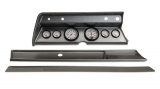 1967 El Camino 6 Gauge Panel Brushed Alum. With Auto Meter Phantom Gauges