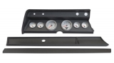 1967 El Camino 6 Gauge Panel Black With Auto Meter Ultra-Lite Ii Gauges