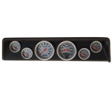 1966-1967 Nova 6 Gauge Panel Black With Auto Meter Ultra-Lite Gauges