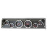 1966-1967 Nova 6 Gauge Panel Brushed Alum. With Auto Meter Ultra-Lite Gauges
