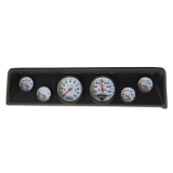 1966-1967 Nova 6 Gauge Panel Black With Auto Meter Phantom Gauges