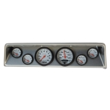 1966-1967 Nova 6 Gauge Panel Brushed Alum. With Auto Meter Phantom Gauges