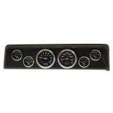 1966-1967 Nova 6 Gauge Panel Black With Auto Meter Carbon Fiber Gauges