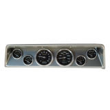 1966-1967 Nova 6 Gauge Panel Brushed Alum. With Auto Meter Carbon Fiber Gauges