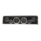 1966-1967 Nova 6 Gauge Panel Carbon Fiber With Auto Meter Carbon Fiber Gauges