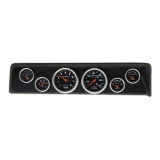 1966-1967 Nova 6 Gauge Panel Black With Auto Meter Sport-Comp Mechanical Gauges