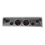 1966-1967 Nova 6 Gauge Panel Brushed Alum. With Auto Meter Sport-Comp Mechanical Gauges