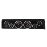 1966-1967 Nova 6 Gauge Panel Carbon Fiber With Auto Meter Sport-Comp Mechanical Gauges