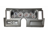 1977-1979 Nova Thunder Road Concourse Series, Silver Face Gauges, Brush. Alum. Dash
