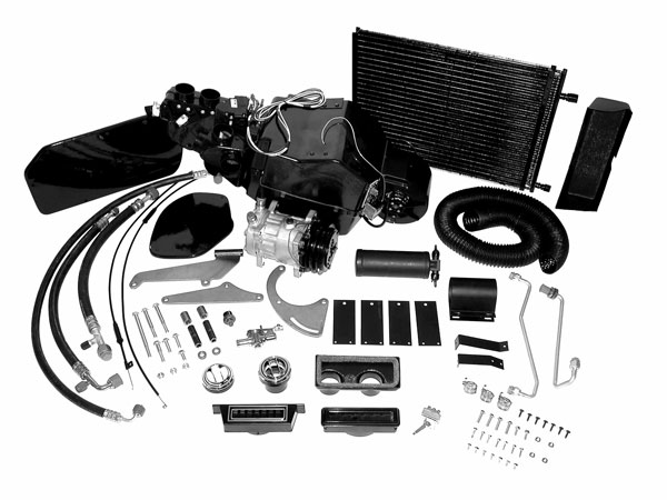 1966-1967 Chevelle Classic Auto Air Perfect Fit System BB, Long Pump, Passenger Side Alternator