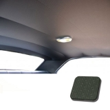 1971-1972 Chevelle TMI Headliner and Sun Visor Kit, Dark Green Perforated Grain
