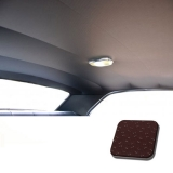 1971-1972 Chevelle TMI Headliner and Sun Visor Kit, Dark Red Perforated Grain