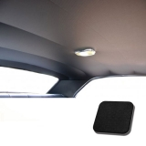 1967 Chevelle TMI Headliner and Sun Visor Kit, Black Impala/Surrey Grain: 20-8257KIT-934