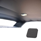 1968 Chevelle TMI Headliner and Sun Visor Kit, Black Bedford/Ribbed Grain