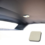 1968 Chevelle TMI Headliner and Sun Visor Kit, White Bedford/Ribbed Grain