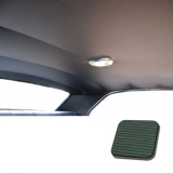 1968 Chevelle TMI Headliner and Sun Visor Kit, Dark Green Bedford/Ribbed Grain