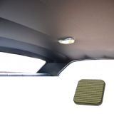 1968 Chevelle TMI Headliner and Sun Visor Kit, Ivy Gold Bedford/Ribbed Grain