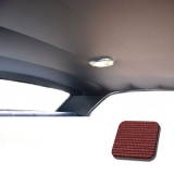 1968 Chevelle TMI Headliner and Sun Visor Kit, Dark Red Bedford/Ribbed Grain