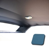 1968 Chevelle TMI Headliner and Sun Visor Kit, Medium Blue Bedford/Ribbed Grain