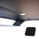 1969 Chevelle TMI Headliner and Sun Visor Kit, Black Perforated Grain