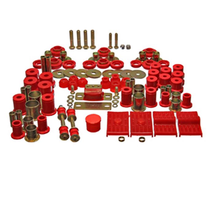 1975-1979 Camaro Energy Suspension Poly Graphite Hyperflex Suspension Kit, Red: 3-18116R