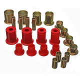 1964-1966 Chevelle Poly Graphite Control Arm Bushing Kit Red: 3-3117R