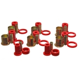 1964 Chevelle Poly Graphite Rear Control Arm Bushing Kit Red