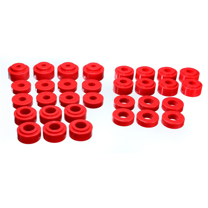 1968-1972 Chevelle Polyurethane Body Mount Kit Coupe, Red: 3-4115R