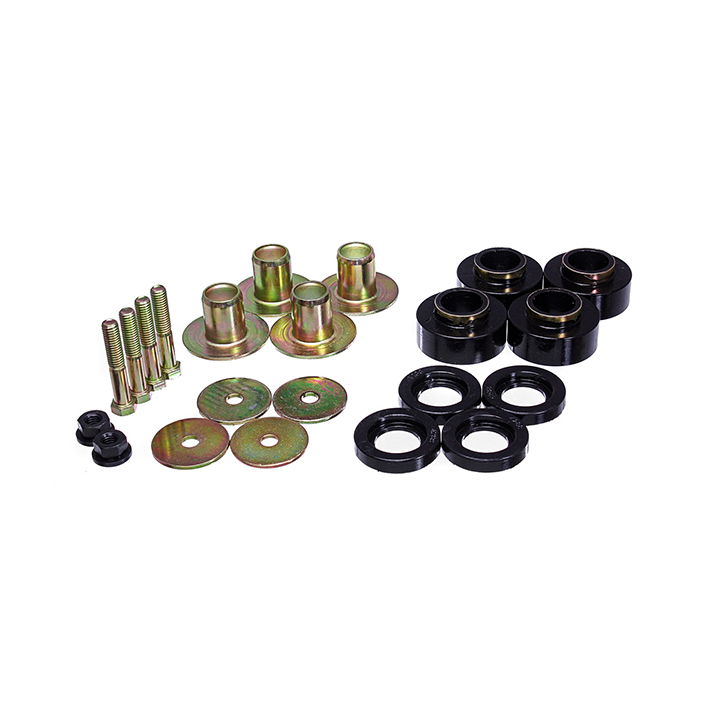 1968-1972 Chevelle Energy Suspension Body Mount Bushing Supplement Kit Black: 3-4171G