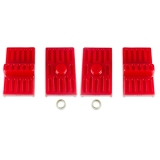 1970-1981 Camaro Energy Suspension Leaf Spring Pad Set Multi Leaf Red: 3-6111R