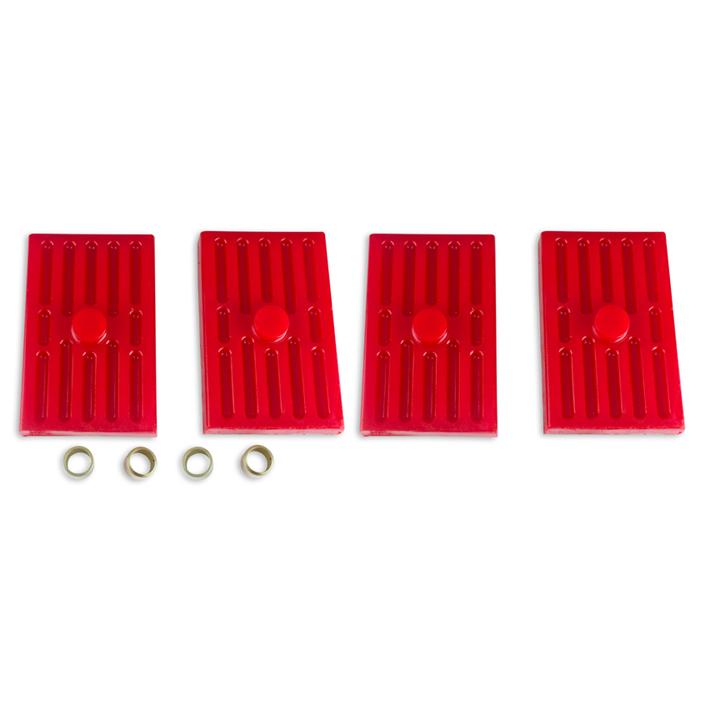 1962-1979 Nova Energy Suspension Leaf Spring Pad Set Multi Leaf Red: 3-6112R
